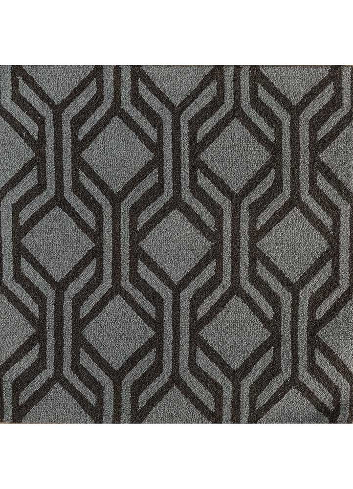 contour beige and brown wool hand tufted Rug - HeadShot