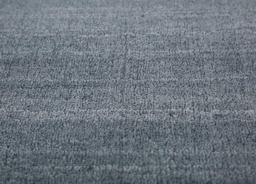 tesoro blue wool and viscose hand loom Rug - Loom