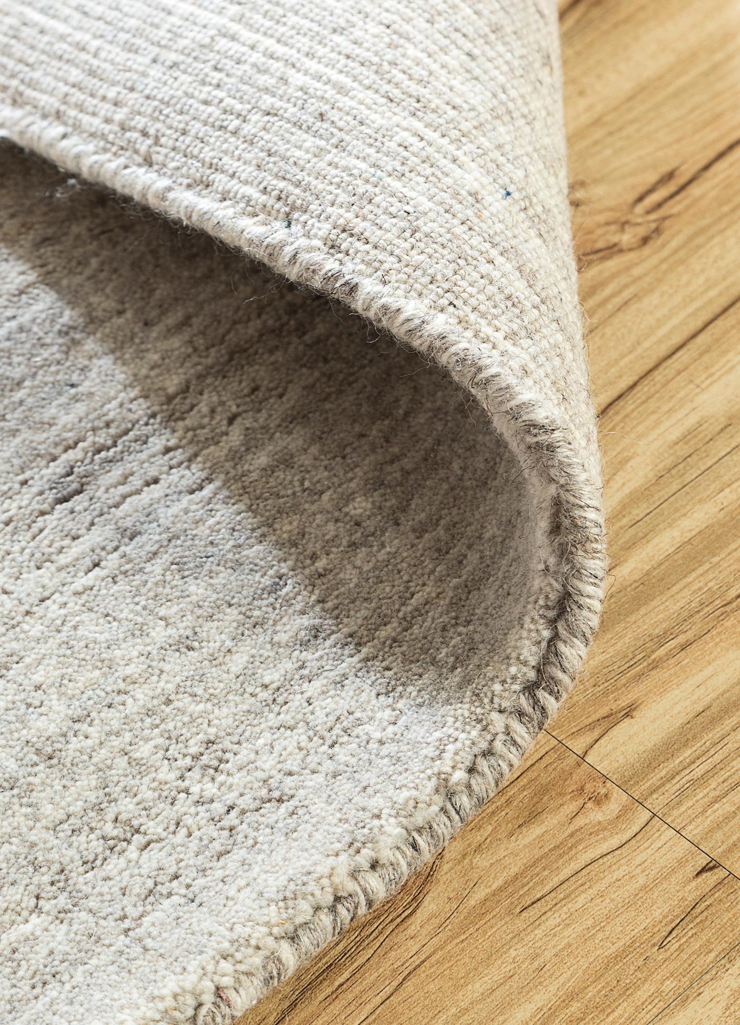 tesoro grey and black wool and viscose hand loom Rug - Loom