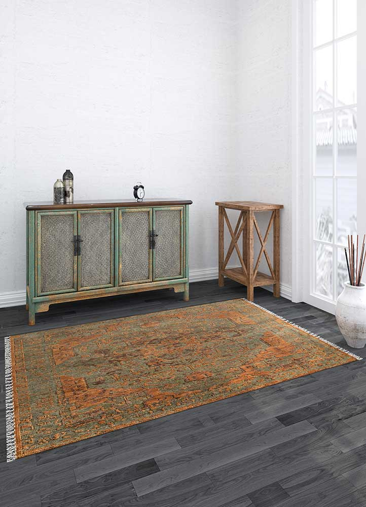 eden beige and brown wool hand knotted Rug - Loom