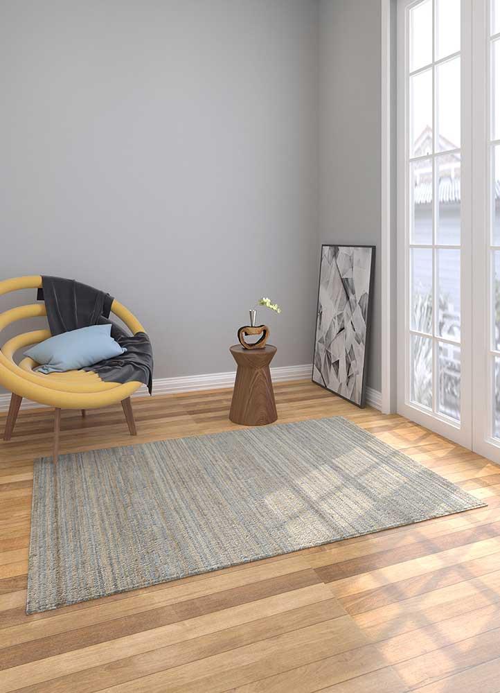 spatial red and orange jute and hemp jute rugs Rug - Loom