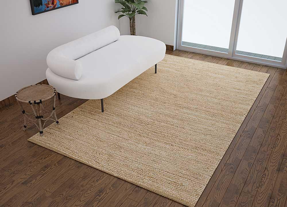 abrash ivory jute and hemp jute rugs Rug - Loom