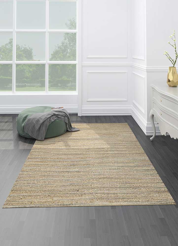 abrash grey and black jute and hemp jute rugs Rug - Loom