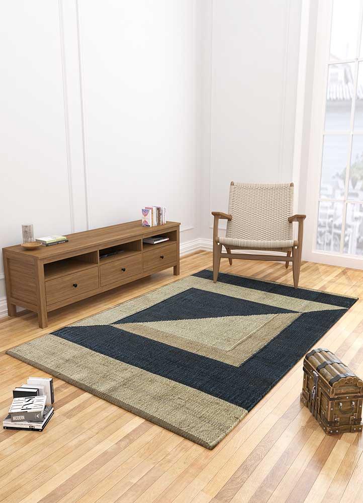 spatial ivory jute and hemp jute rugs Rug - Loom
