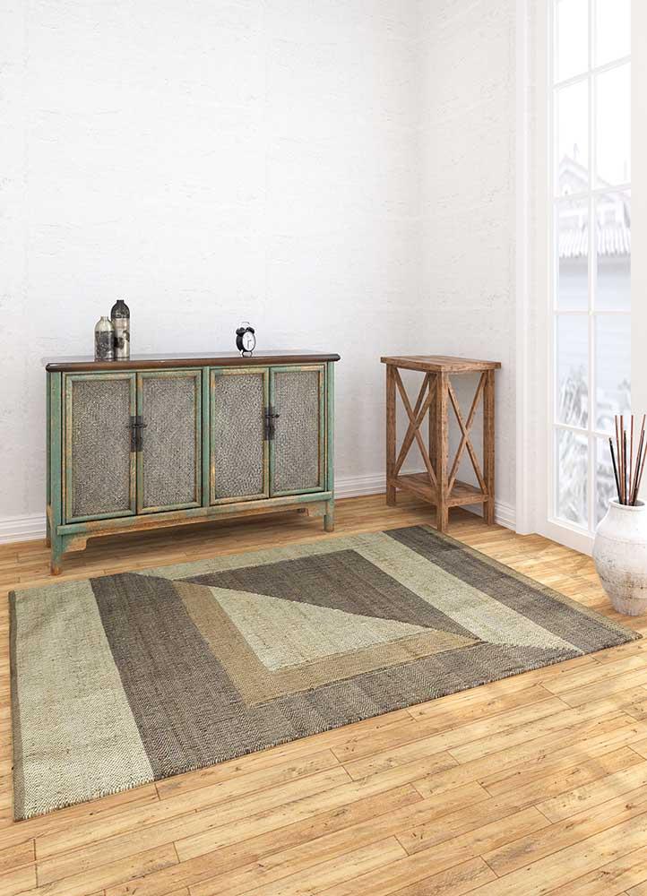 spatial ivory jute and hemp flat weaves Rug - Loom
