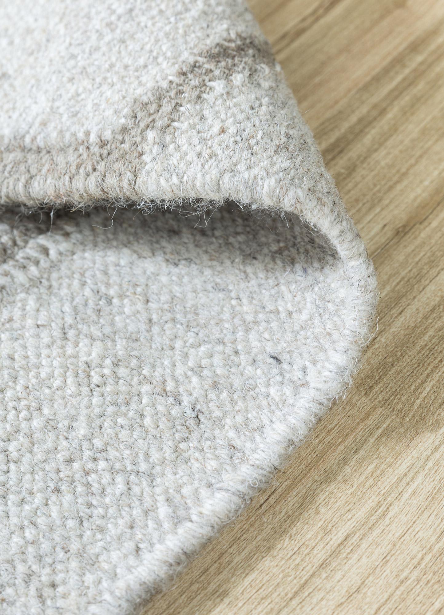 anatolia beige and brown wool flat weaves Rug - Loom