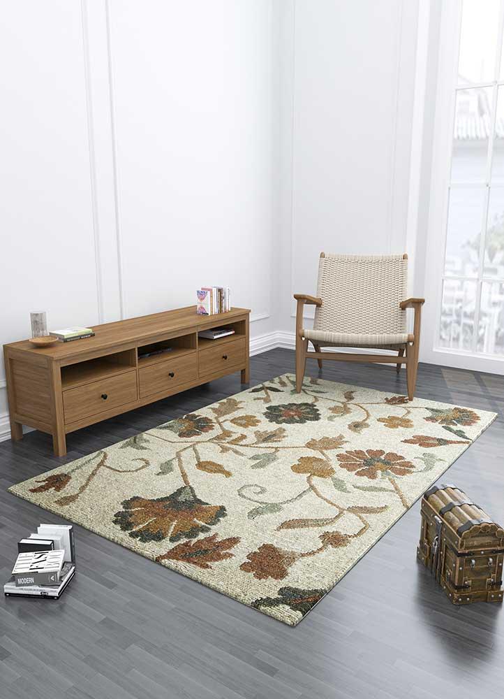 heritage ivory jute and hemp jute rugs Rug - Loom