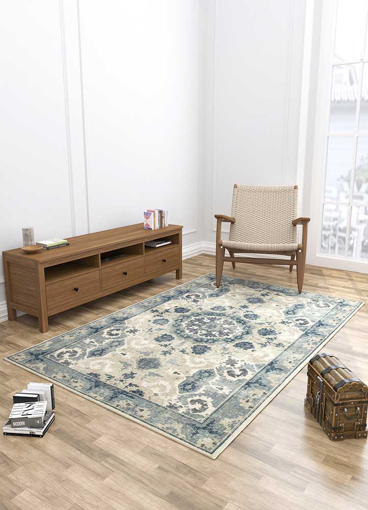 revolution beige and brown wool hand knotted Rug - Loom