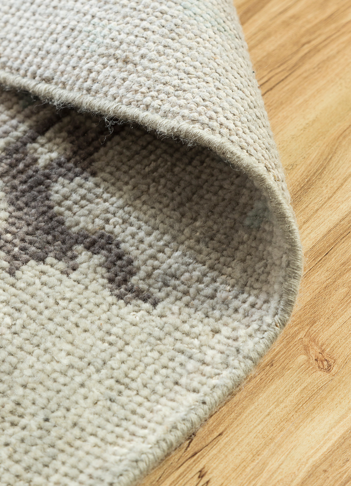 revolution blue wool hand knotted Rug - Loom