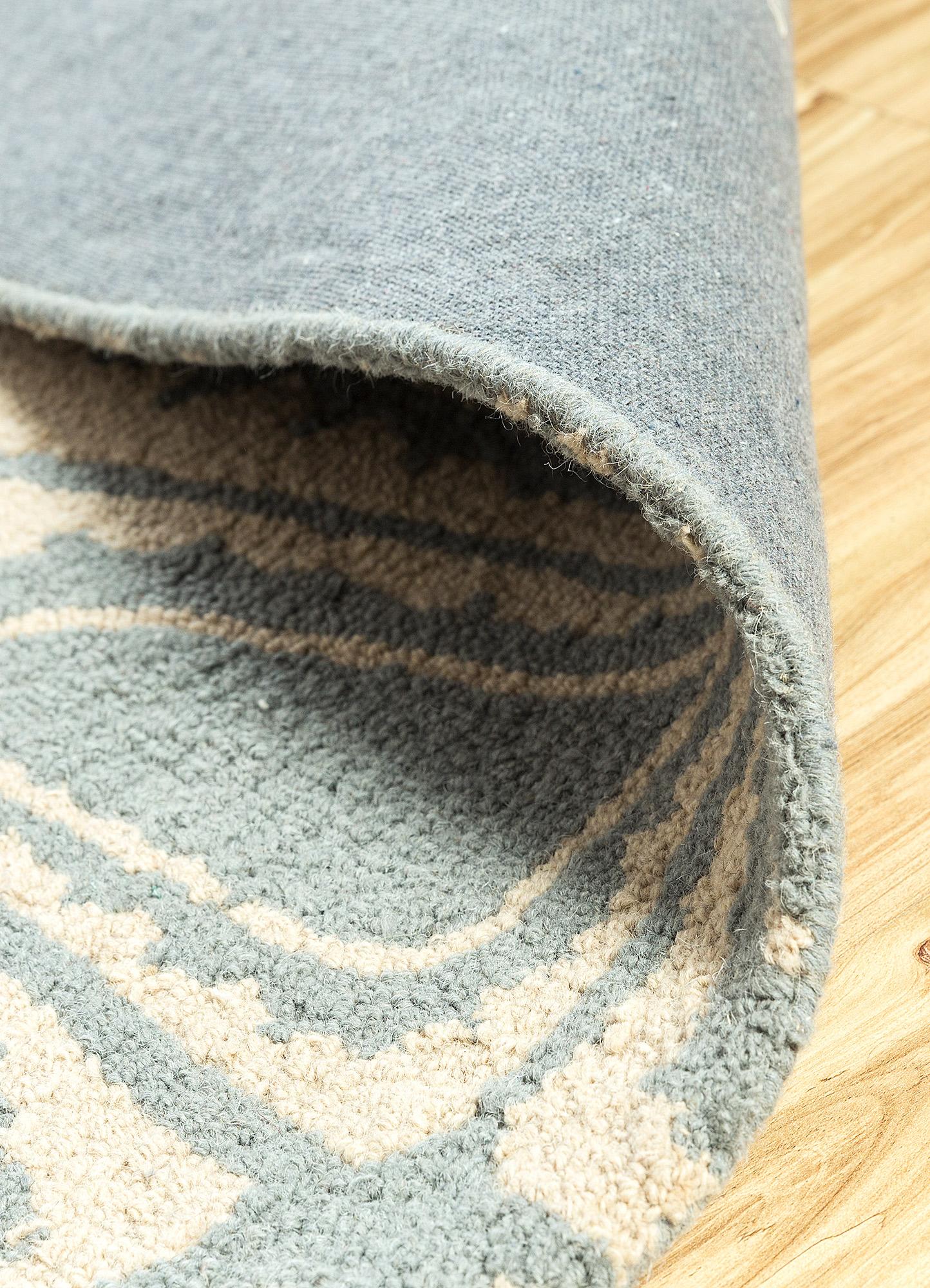 coastal blue wool hand tufted Rug - Loom