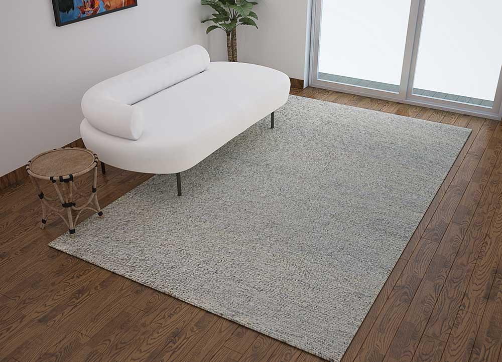 abrash blue jute and hemp jute rugs Rug - Loom