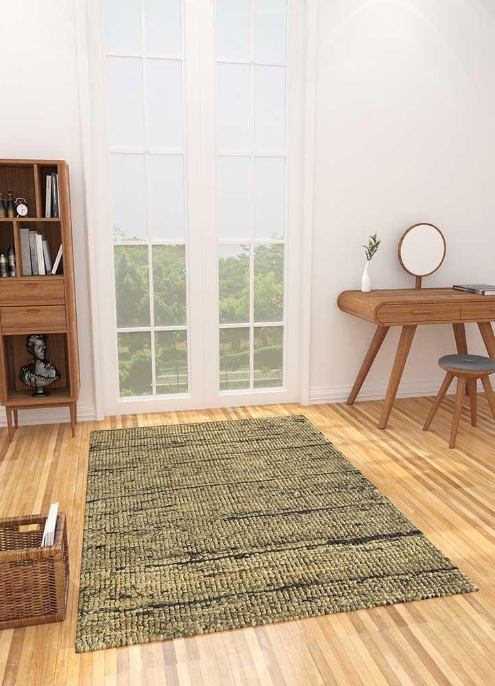 abrash beige and brown jute and hemp flat weaves Rug - Loom