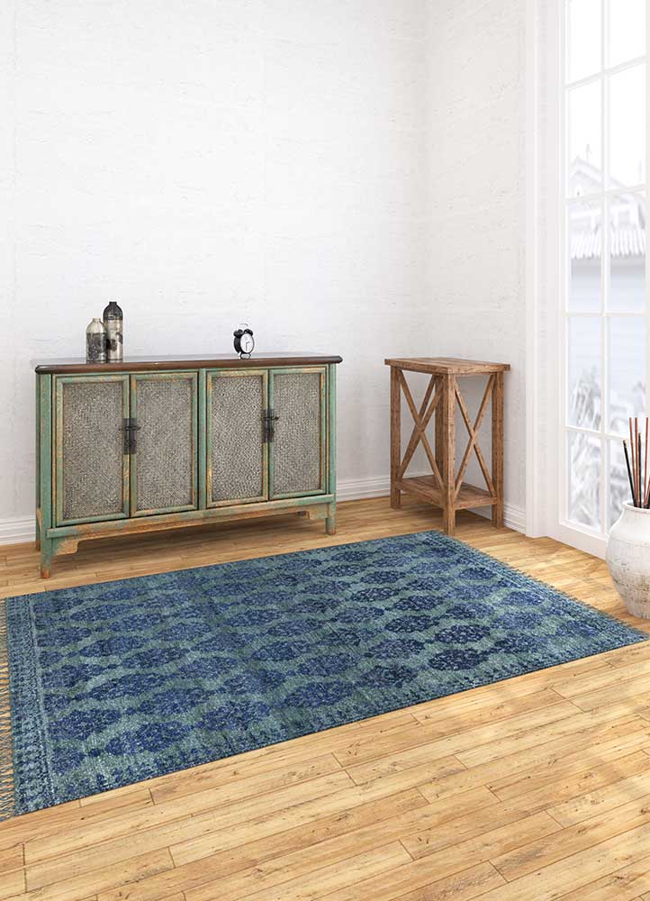 liberty green others hand knotted Rug - Loom