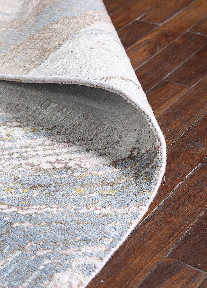 unstring by kavi ivory wool and bamboo silk hand knotted Rug - Loom