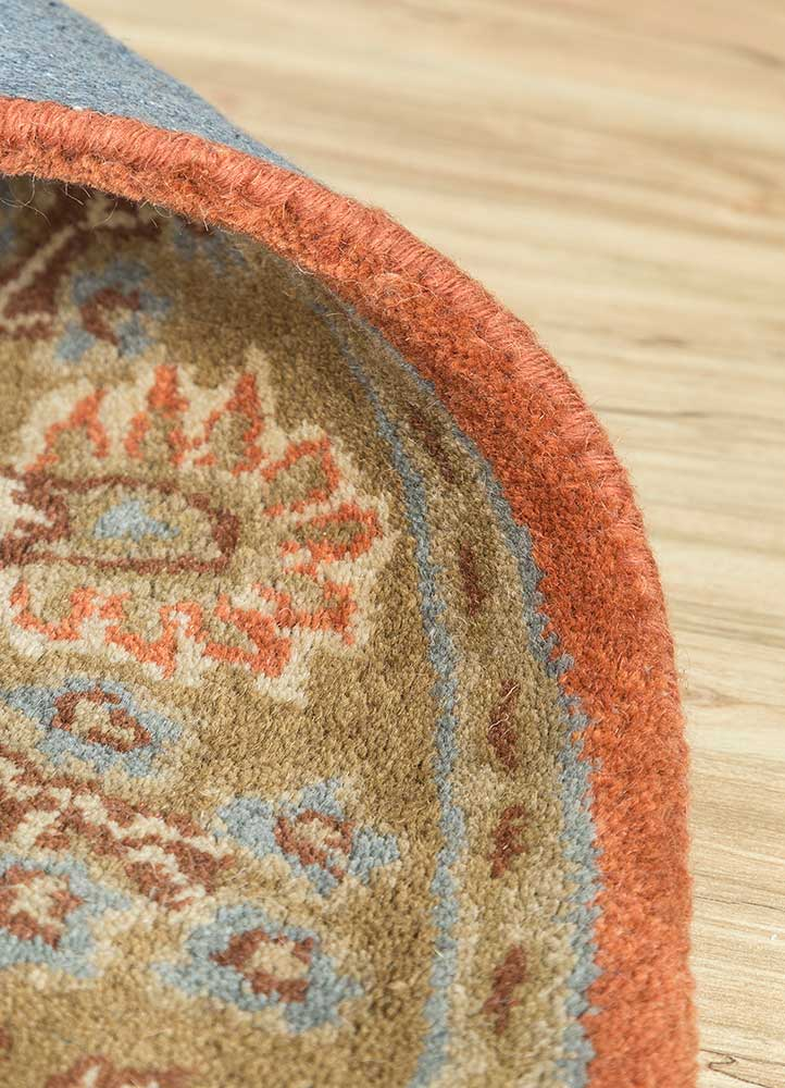 mythos red and orange wool hand tufted Rug - Loom