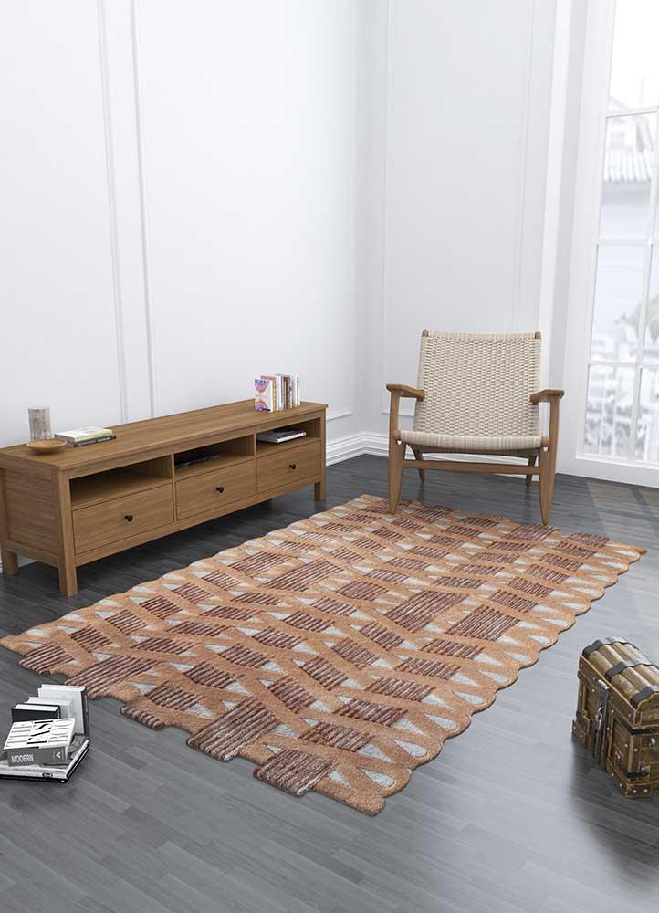 jaipur wunderkammer ivory wool and viscose hand tufted Rug - Loom