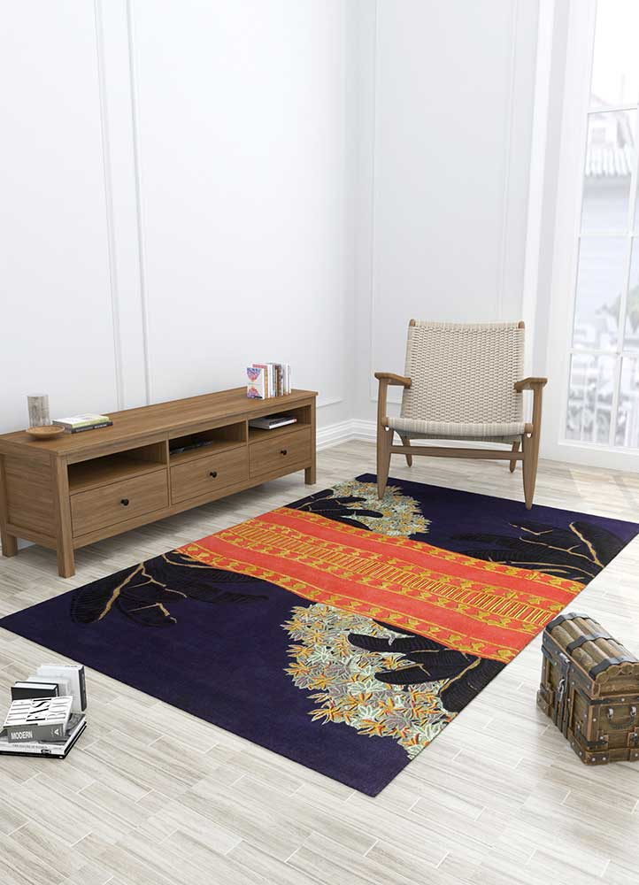 jaipur wunderkammer blue wool and viscose hand tufted Rug - Loom