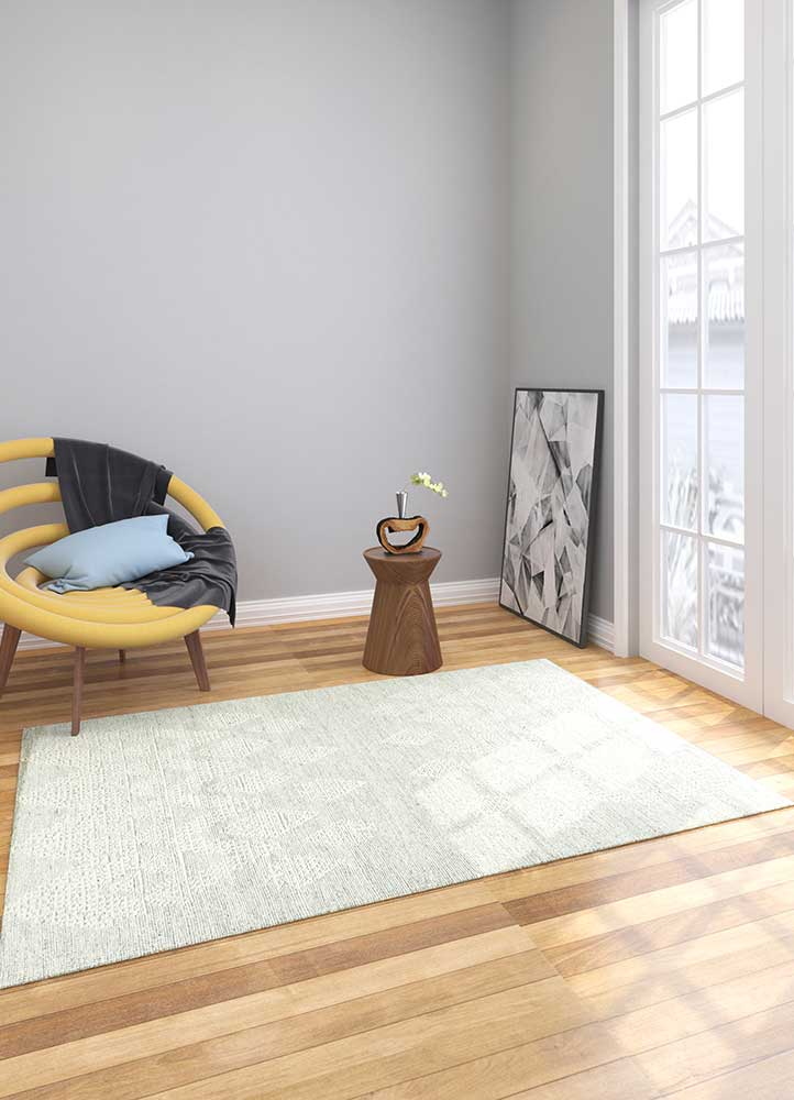 revolution grey and black wool hand knotted Rug - Loom