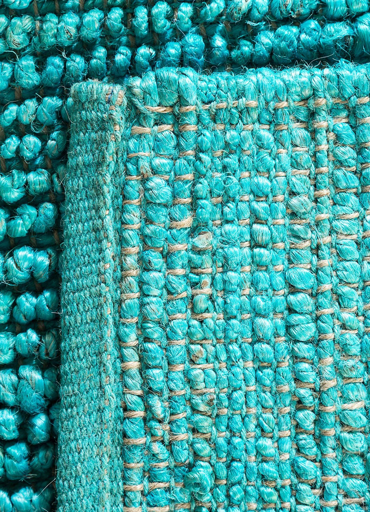 abrash blue jute and hemp jute rugs Rug - Perspective