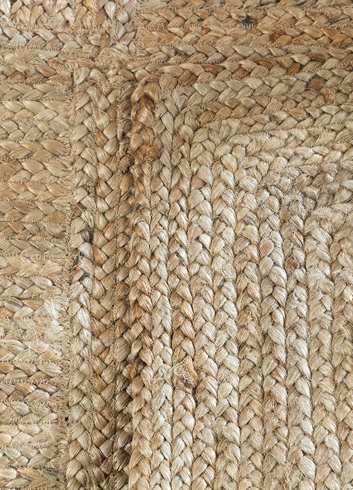 abrash beige and brown jute and hemp jute rugs Rug - Perspective