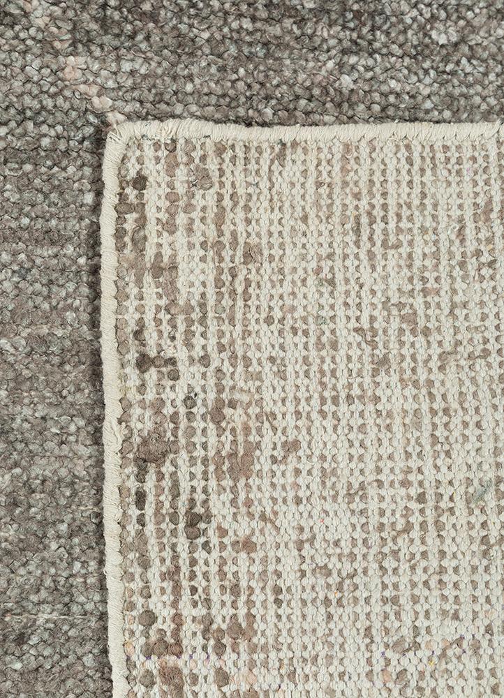 anatolia grey and black viscose flat weaves Rug - Perspective
