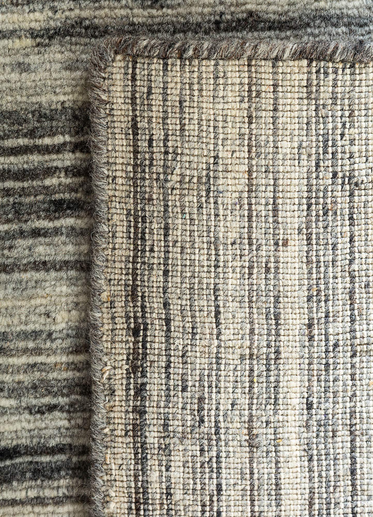 eron ivory wool hand loom Rug - Perspective