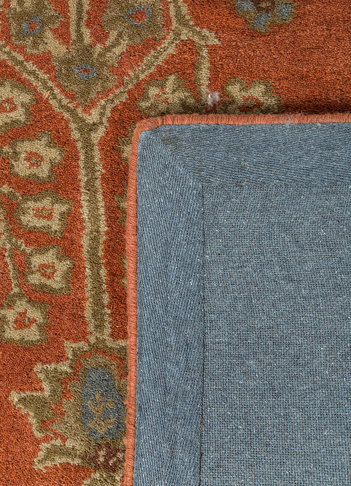 mythos red and orange wool hand tufted Rug - Perspective