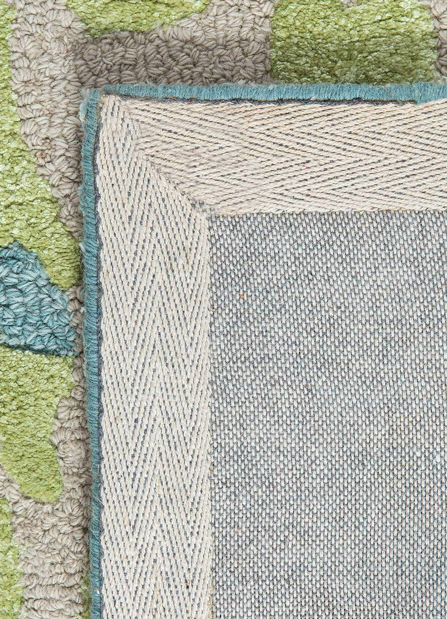 midtown by artemis ivory wool and viscose hand tufted Rug - Perspective