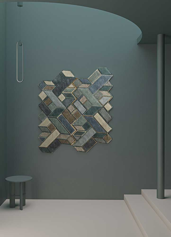 archetype blue wool and viscose hand tufted Rug - RoomScene