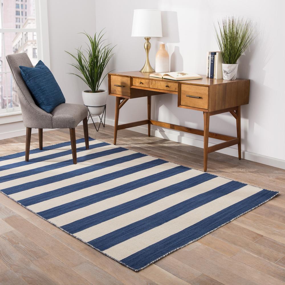 aqua blue wool flat weaves Rug - RoomScene