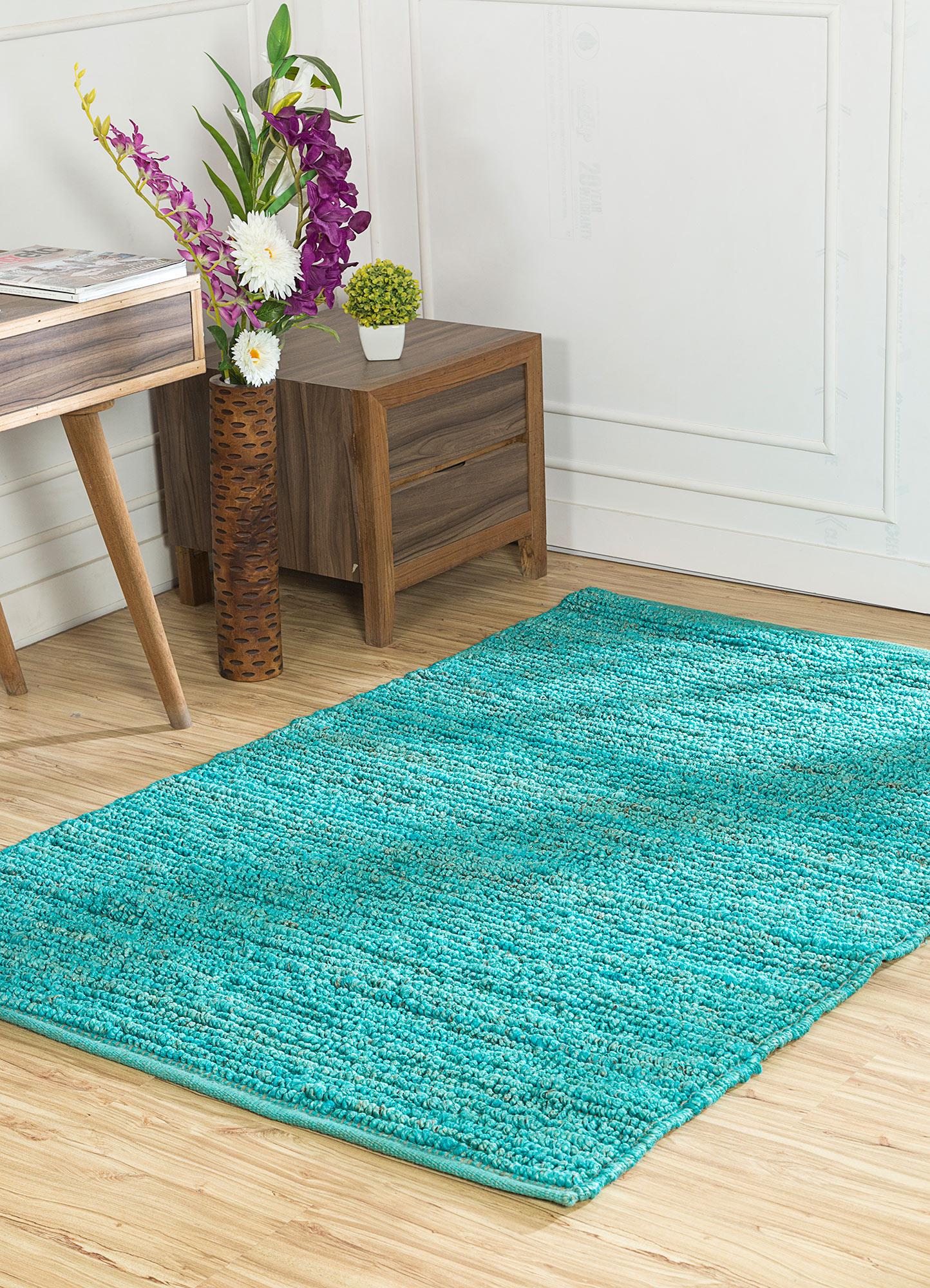 abrash blue jute and hemp jute rugs Rug - RoomScene