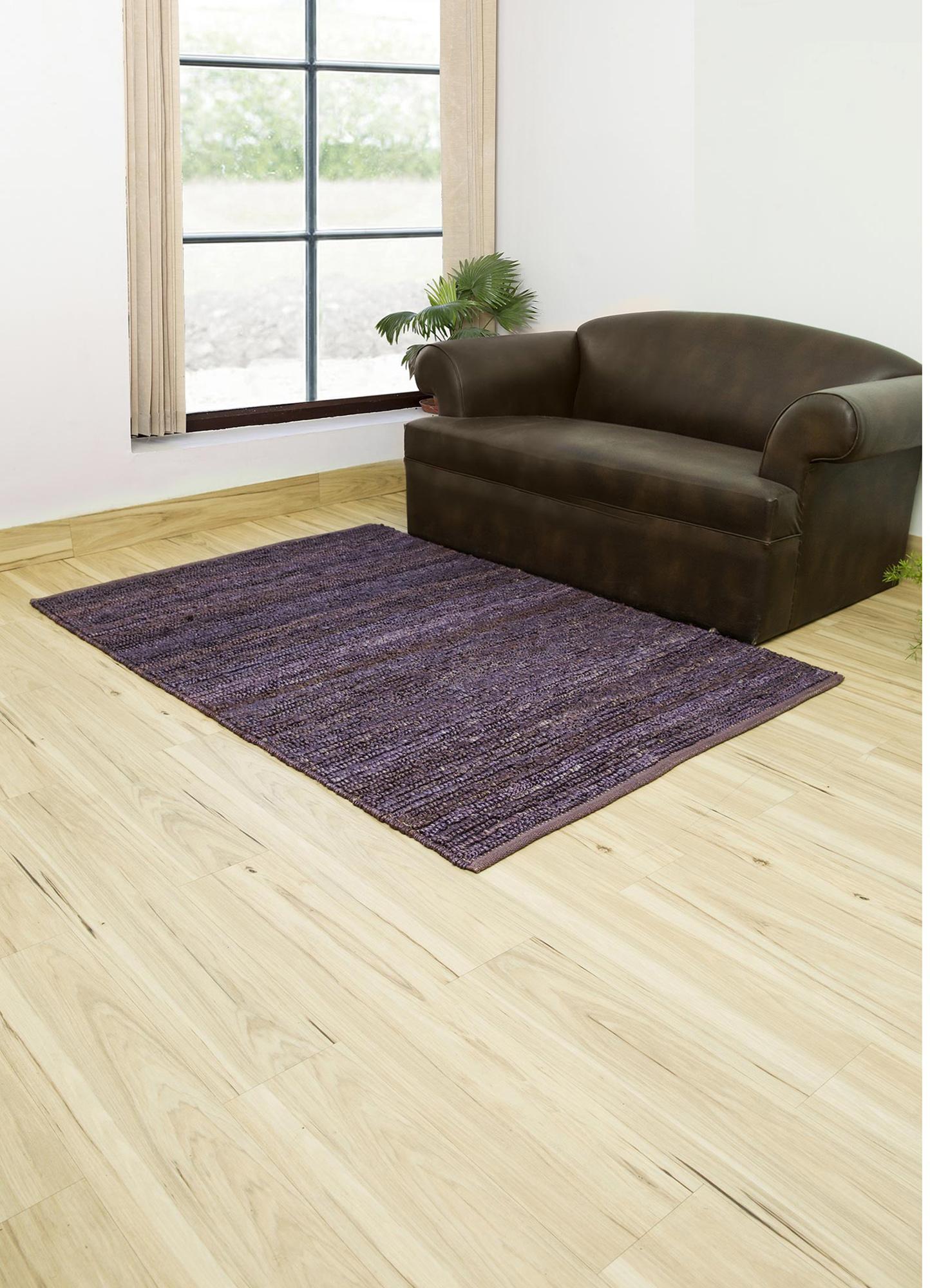 abrash pink and purple jute and hemp flat weaves Rug - RoomScene