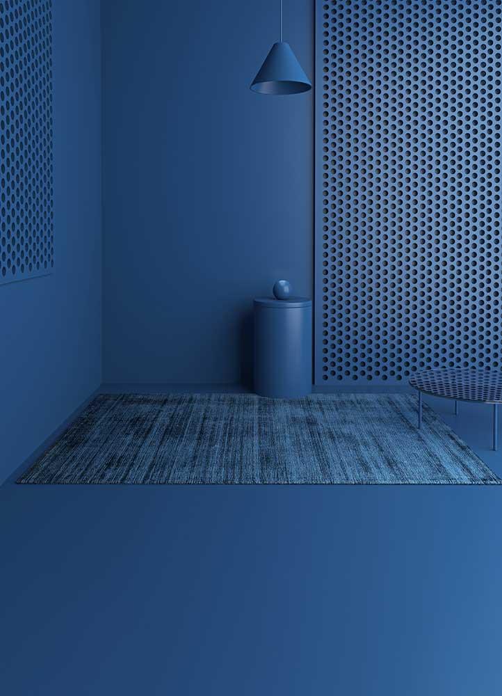 yasmin blue viscose hand loom Rug - RoomScene