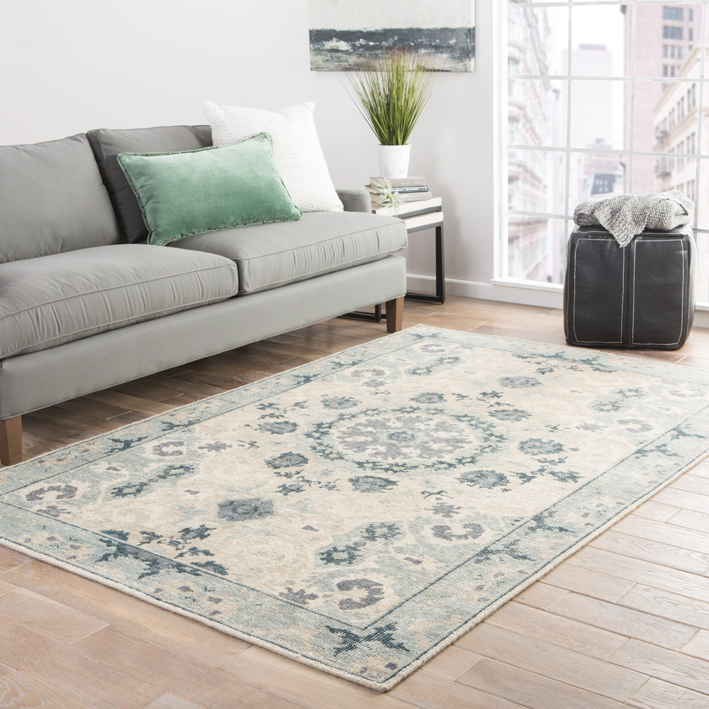 revolution beige and brown wool hand knotted Rug - RoomScene