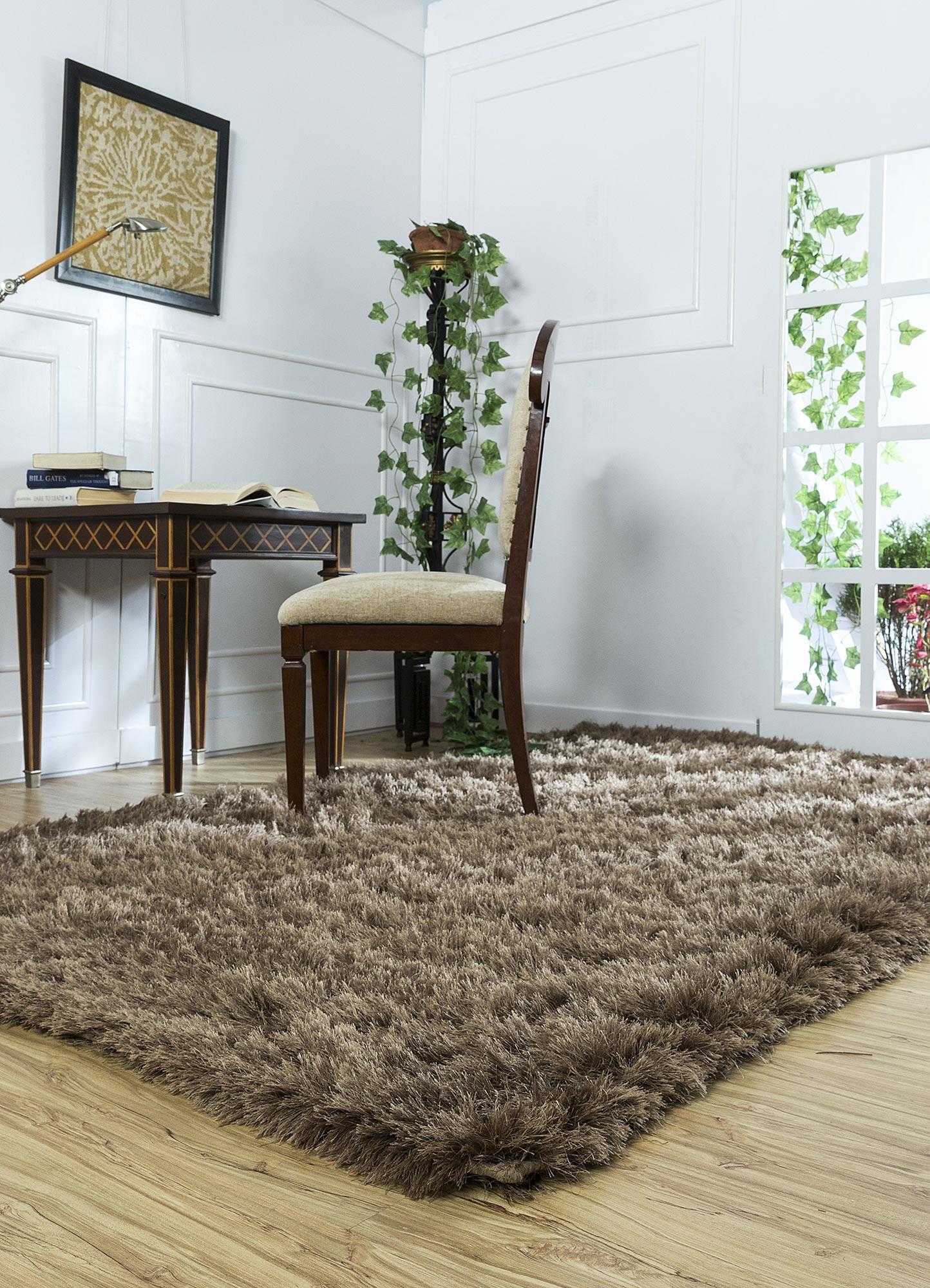 verve beige and brown polyester shag Rug - RoomScene