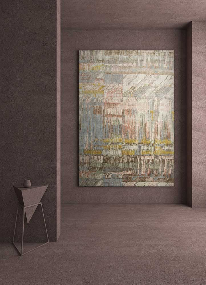 unstring by kavi ivory wool and bamboo silk hand knotted Rug - RoomScene