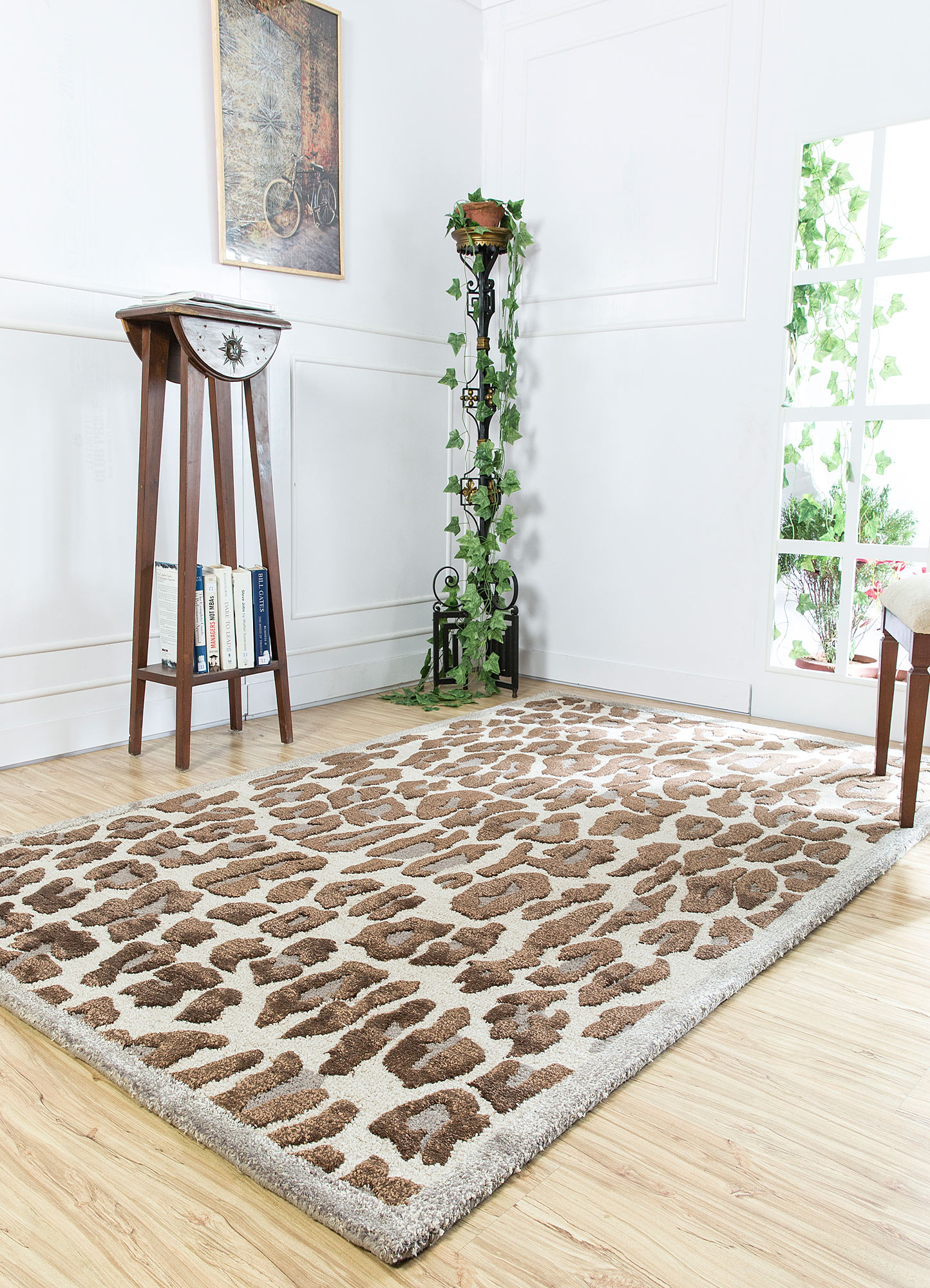midtown by artemis ivory wool and viscose hand tufted Rug - RoomScene
